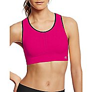 Womens Champion Infinity Shape Sports Bras - Pop Art Pink/Black L