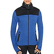Womens Champion Premium Tech Fleece Full Zip Cold Weather Jackets - Steel Blue Heather XS