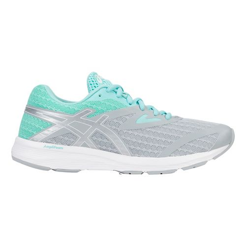 Womens ASICS Amplica Running Shoe - Grey/Silver/Blue 10.5