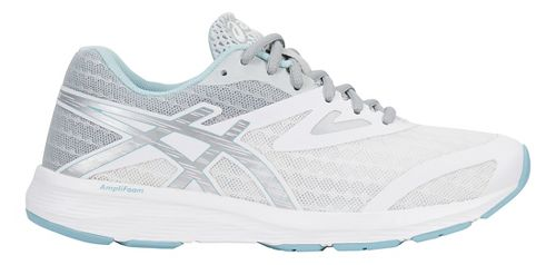 Womens ASICS Amplica Running Shoe - White/Silver/Blue 10
