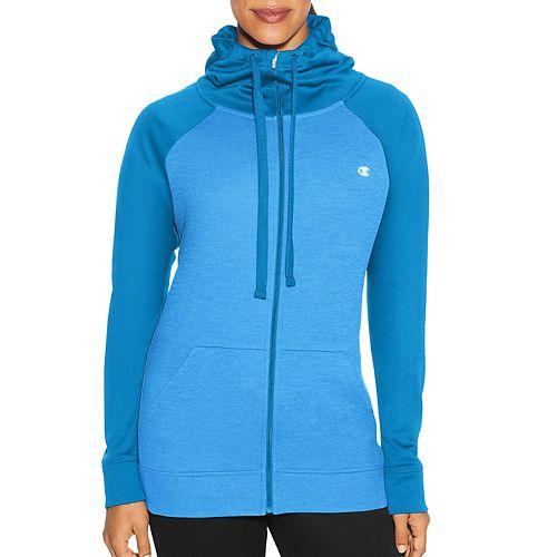 Womens Champion Tech Fleece Full Zip Cold Weather Jackets - Hydro Heather L