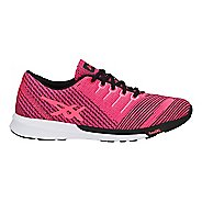Womens ASICS fuzeX Knit Running Shoe - Pink/Coral/Black 9.5