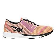 Womens ASICS fuzeX Knit Running Shoe - Coral/Black/Yellow 5