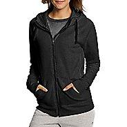 Womens Champion Fleece Full Zip Half-Zips & Hoodies Technical Tops - Black L
