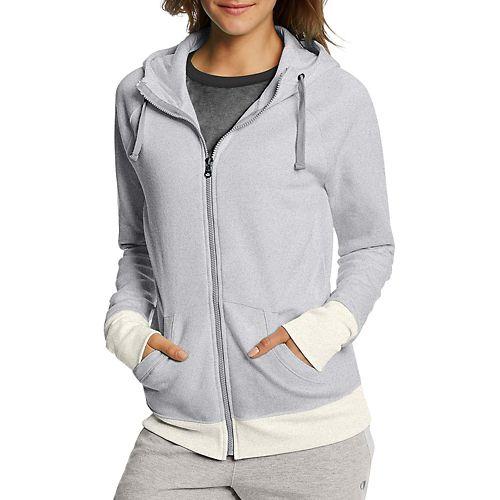 Womens Champion Fleece Full Zip Half-Zips & Hoodies Technical Tops - Oxford Heather XXL