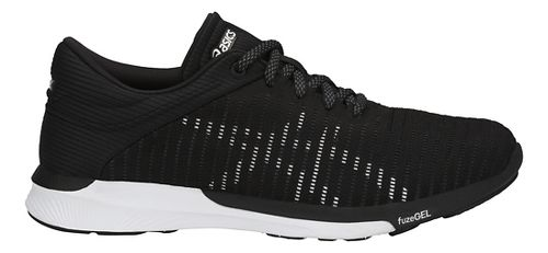 Womens ASICS fuzeX Rush Adapt Running Shoe - Black/White/Grey 9.5