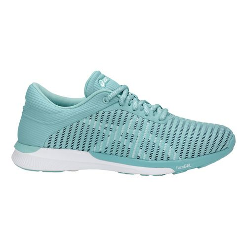 Womens ASICS fuzeX Rush Adapt Running Shoe - Blue/White 6