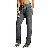 Womens Champion Fleece Open Bottom Pants - Granite Heather M
