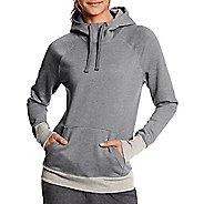 Womens Champion Fleece Pullover Half-Zips & Hoodies Technical Tops - Oxford Heather M