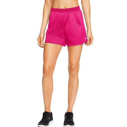 Womens Champion Mesh Lined Shorts - Pop Art Pink L