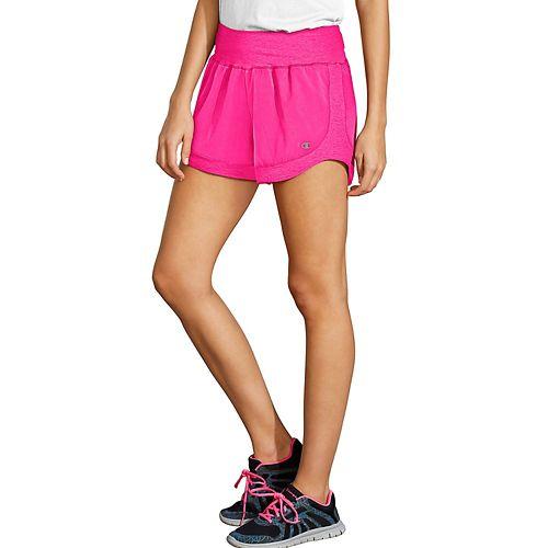 Womens Champion Sport 6 Lined Shorts - Pop Art Pink XL