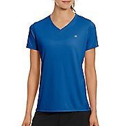 Womens Champion Vapor Select Tee Short Sleeve Technical Tops - Steel Blue L