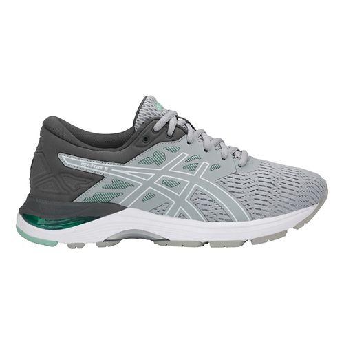 Womens ASICS GEL-Flux 5 Running Shoe - Grey/White/Green 10.5