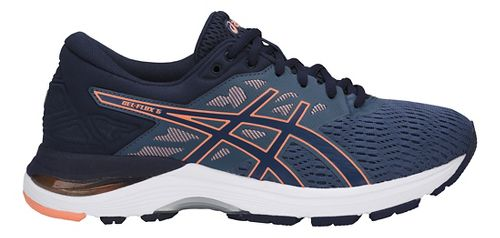 Womens ASICS GEL-Flux 5 Running Shoe - Blue/Cantaloupe 8