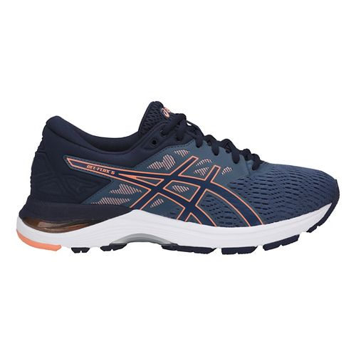 Womens ASICS GEL-Flux 5 Running Shoe - Blue/Cantaloupe 12