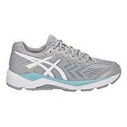 Womens ASCIS GEL-Fortitude 8 Running Shoe - Grey/White/Blue 6.5