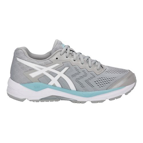 Womens ASCIS GEL-Fortitude 8 Running Shoe - Grey/White/Blue 6.5