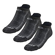 R-Gear Drymax Thick Cushion No Show 3 pack Socks - Black L