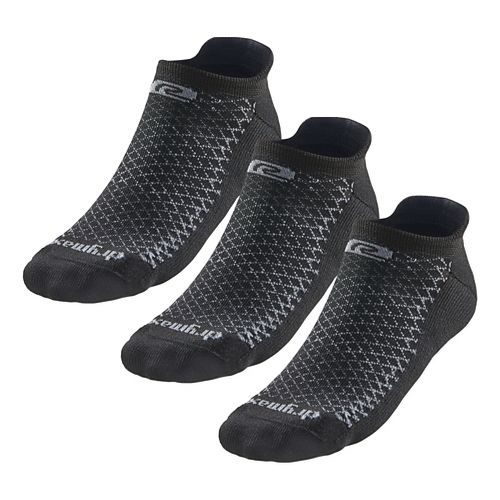 R-Gear Drymax Thick Cushion No Show 3 pack Socks - Black M