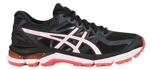 Womens ASICS GEL-Glyde Running Shoe - Black/White/Coral 7.5