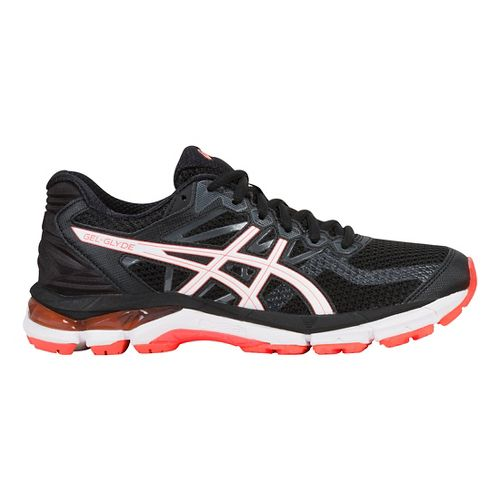 Womens ASICS GEL-Glyde Running Shoe - Black/White/Coral 6