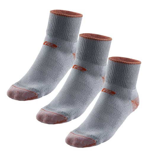 R-Gear Drymax Medium Cushion Trail Quarter 3 pack Socks - Orange/Grey L