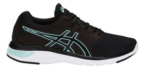 Womens ASICS GEL-Moya Running Shoe - Black/Blue 11.5