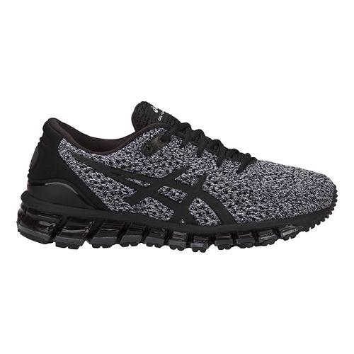 Womens ASICS GEL-Quantum 360 Knit Running Shoe - Black/White 7