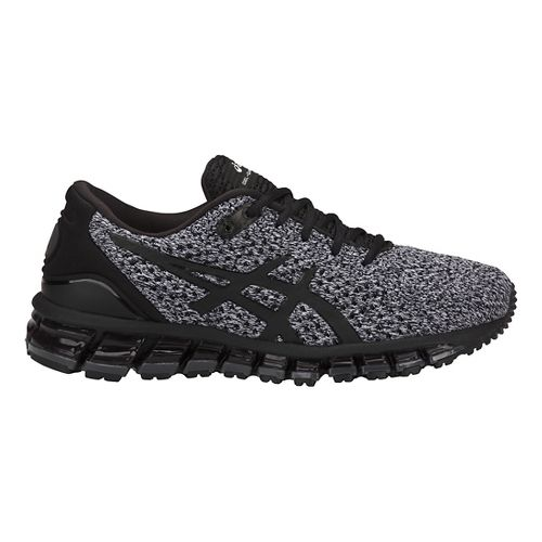 Womens ASICS GEL-Quantum 360 Knit Running Shoe - Black/White 9.5