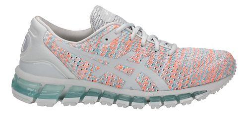 Womens ASICS GEL-Quantum 360 Knit Running Shoe - Grey/Orange/Blue 5