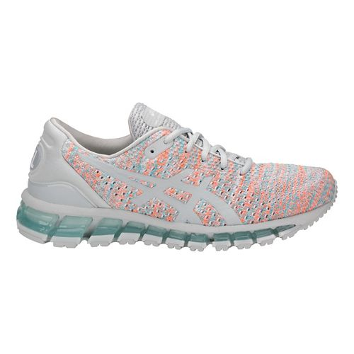 Womens ASICS GEL-Quantum 360 Knit Running Shoe - Grey/Orange/Blue 5