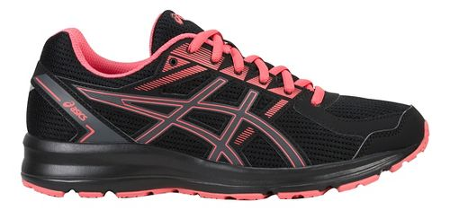 Womens ASICS Jolt Running Shoe - Black/Carbon/Peach 7