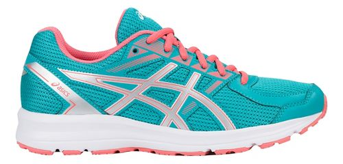 Womens ASICS Jolt Running Shoe - Green/Silver/Peach 11.5