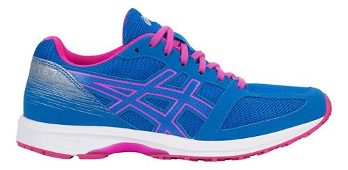 Womens ASICS LyteRacer TS 7 Running Shoe - Blue/White/Pink 6