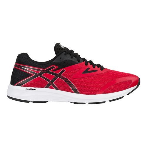 Mens ASICS Amplica Running Shoe - Red/Black/Silver 11.5