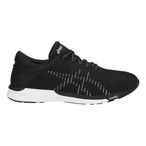 Mens ASICS fuzeX Rush Adapt Running Shoe - Black/White/Grey 8.5