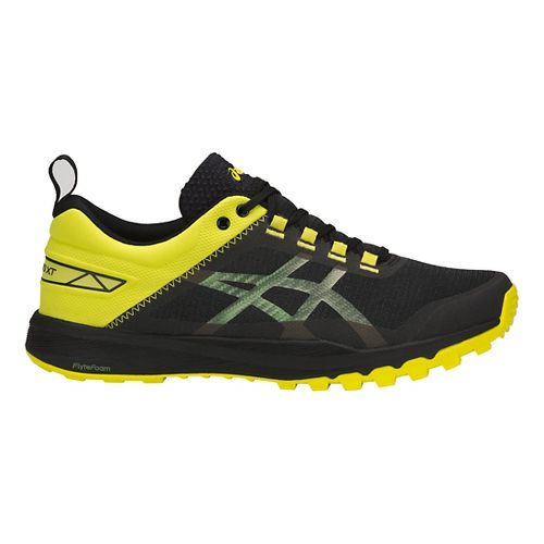 Mens ASICS Gecko XT Trail Running Shoe - Black/Carbon/Sulphur 8