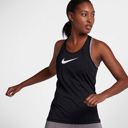 Womens Nike Pro All Over Mesh Sleeveless & Tank Technical Tops - Black/White XL
