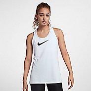 Womens Nike Pro All Over Mesh Sleeveless & Tank Technical Tops - White/Black XS