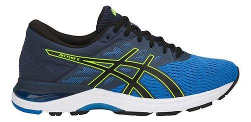 Mens ASICS GEL-Flux 5 Running Shoe - Blue/Black/Yellow 11