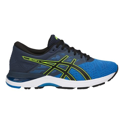 Mens ASICS GEL-Flux 5 Running Shoe - Blue/Black/Yellow 15