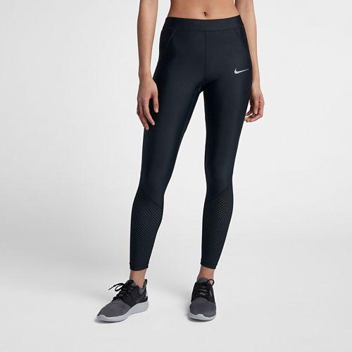 Womens Nike Power Speed Cool 7/8 Tights & Leggings Pants - Black S