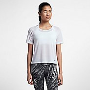 Womens Nike Miler Breathe Short Sleeve Technical Tops - White L