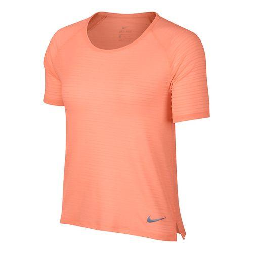 Womens Nike Miler Breathe Short Sleeve Technical Tops - Crimson XS