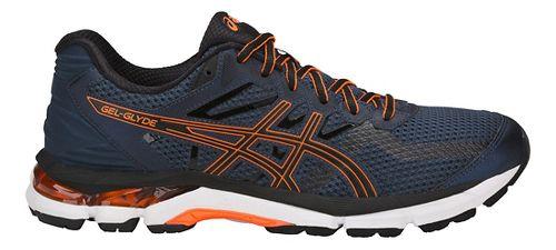 Mens ASICS GEL-Glyde Running Shoe - Blue/Black/Orange 15