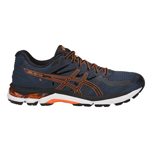 Mens ASICS GEL-Glyde Running Shoe - Blue/Black/Orange 9