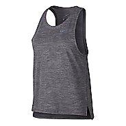 Womens Nike Dry Medalist Sleeveless & Tank Technical Tops - Gunsmoke L