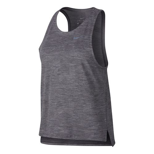 Womens Nike Dry Medalist Sleeveless & Tank Technical Tops - Gunsmoke L