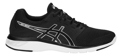 Mens ASICS GEL-Moya Running Shoe - Black/Silver 12.5