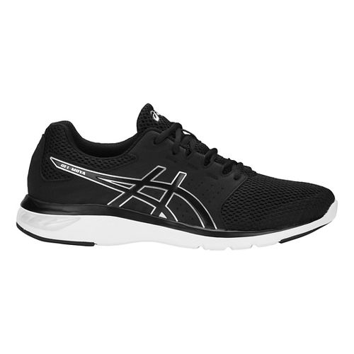 Mens ASICS GEL-Moya Running Shoe - Black/Silver 12.5